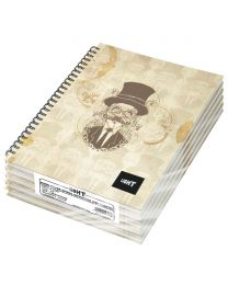 Light Spiral Hard Cover Notebook Single Line (Pack of 5 Pcs X 100 Sheets) A5 Size