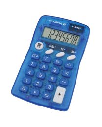 Olympia Pocket Calculator 8 Digits LCD825, Blue Color