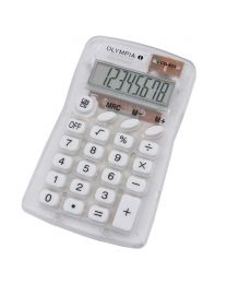 Olympia Pocket Calculator 8 Digits, LCD825,  White / Transparent Color