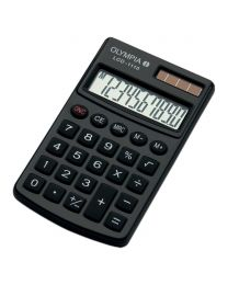 Olympia Pocket Calculator 10 Digits LCD1110, Black Color