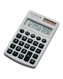 Olympia Pocket Calculator 10 Digits LCD1110, White Color