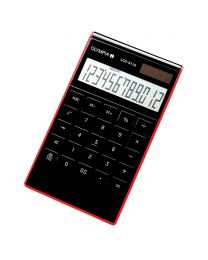 Olympia Desktop Calculator 12 Digits LCD3112, Black / Red Color