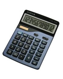 Olympia Desktop Calculator 12 Digits, Steel Blue Color