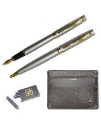 Scrikss Special Gift Sets Dr202 (Wallet + Ball Pen 1.0mm + Fountain Pen M)